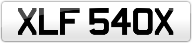 Plate image for registration plate XLF540X
