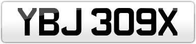 Plate image for registration plate YBJ309X