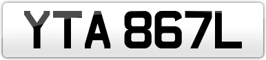 Plate image for registration plate YTA867L