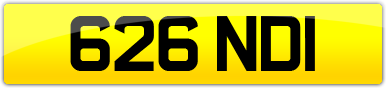 Plate image for registration plate 626NDI