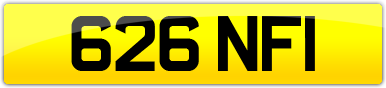 Plate image for registration plate 626NFI