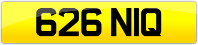 Plate image for registration plate 626NIQ