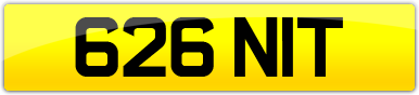 Plate image for registration plate 626NIT
