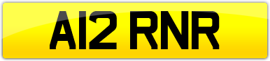 Plate image for registration plate A12RNR