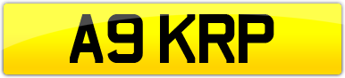 Plate image for registration plate A9KRP