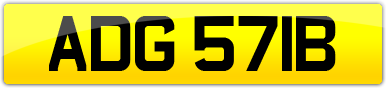 Plate image for registration plate ADG571B