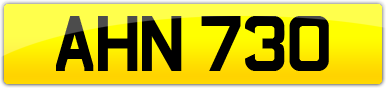 Plate image for registration plate AHN730