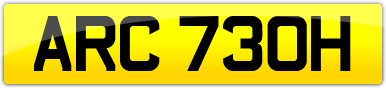 Plate image for registration plate ARC730H