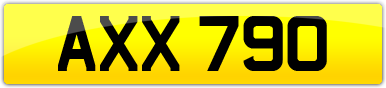 Plate image for registration plate AXX790