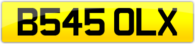 Plate image for registration plate B545OLX