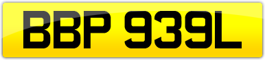 Plate image for registration plate BBP939L