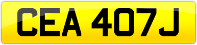 Plate image for registration plate CEA407J