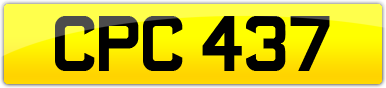 Plate image for registration plate CPC437