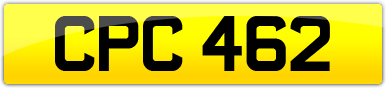 Plate image for registration plate CPC462
