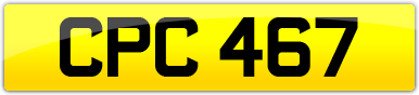Plate image for registration plate CPC467