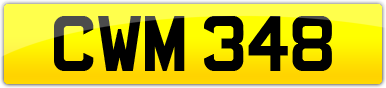 Plate image for registration plate CWM348