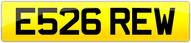 Plate image for registration plate E526REW