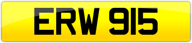 Plate image for registration plate ERW915
