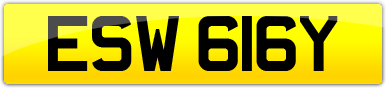 Plate image for registration plate ESW616Y