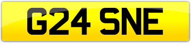 Plate image for registration plate G24SNE