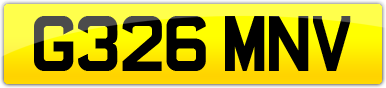 Plate image for registration plate G326MNV