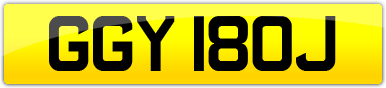 Plate image for registration plate GGY180J