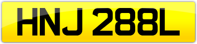 Plate image for registration plate HNJ288L