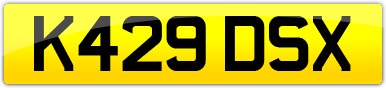 Plate image for registration plate K429DSX