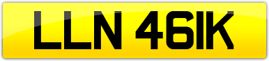 Plate image for registration plate LLN461K