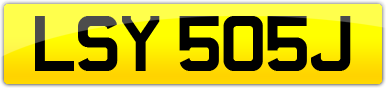 Plate image for registration plate LSY505J