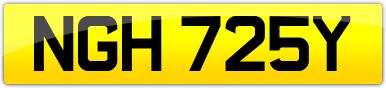 Plate image for registration plate NGH725Y