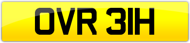 Plate image for registration plate OVR31H