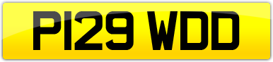 Plate image for registration plate P129WDD