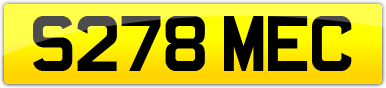 Plate image for registration plate S278MEC