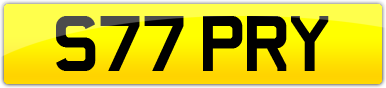 Plate image for registration plate S77PRY