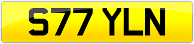 Plate image for registration plate S77YLN