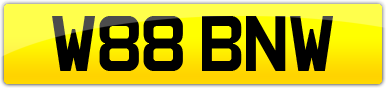 Plate image for registration plate W88BNW
