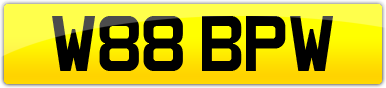 Plate image for registration plate W88BPW