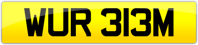 Plate image for registration plate WUR313M