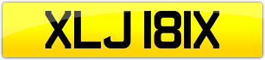 Plate image for registration plate XLJ181X