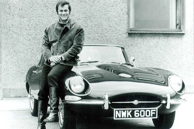 Jaguar E-Type Photo with Hollywood film star Tony Curtis